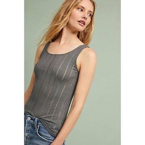 Anthropologie Fitted Ribbed Tank